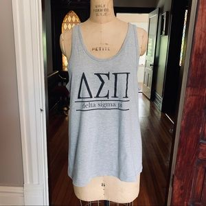 Delta Sigma Pi Sorority T-shirt tank Large EUC